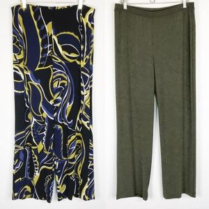 Chico's Travelers Pants Size 2 Large 2 Pairs